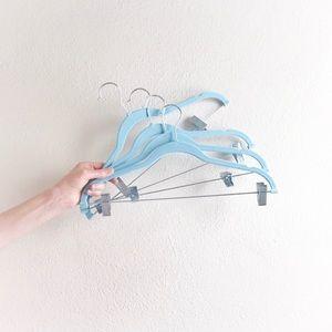 blue velvet hanger set of 4 closet organization